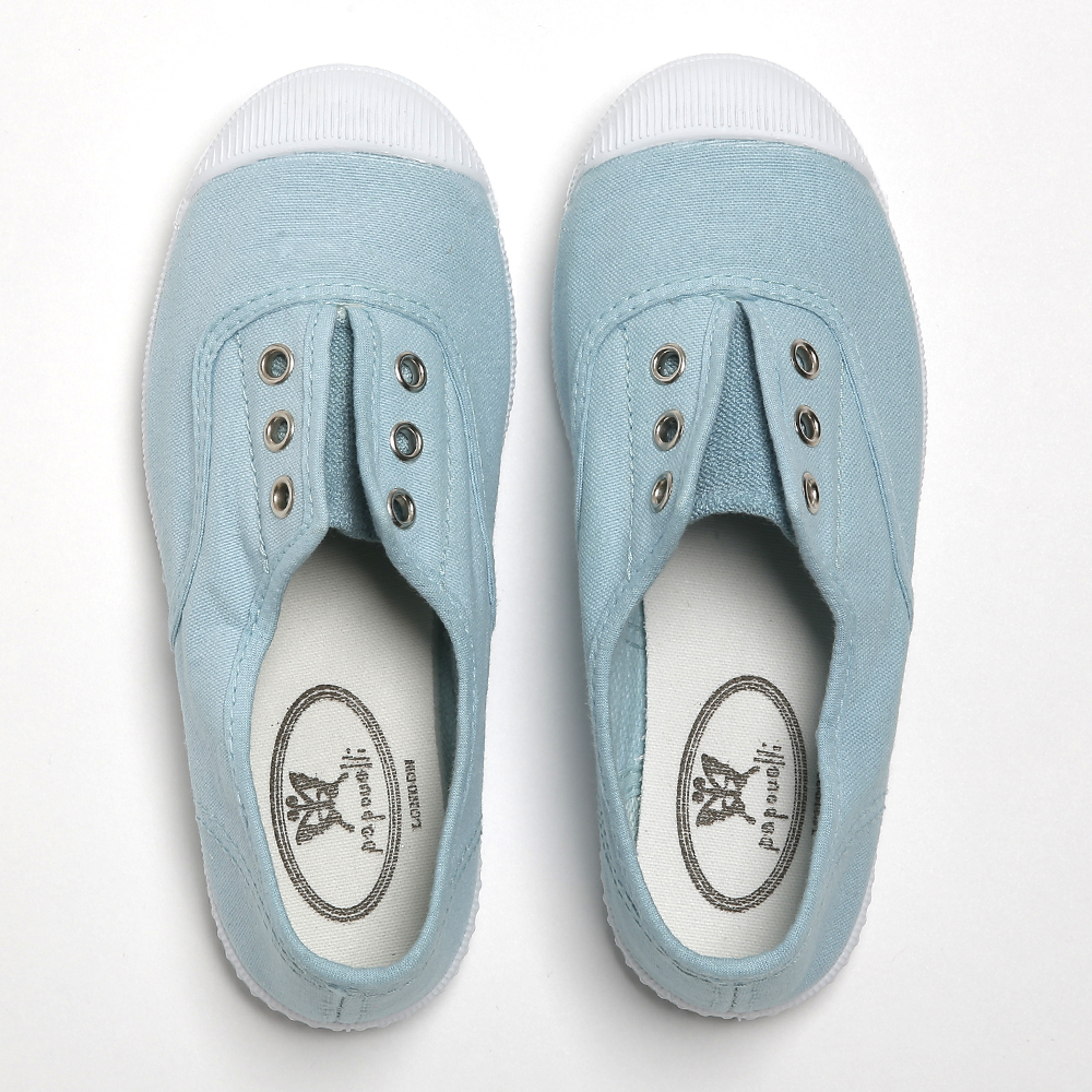 Darcie canvas slip-on aqua