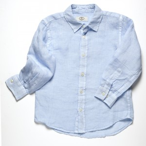 linen shirt pale blue