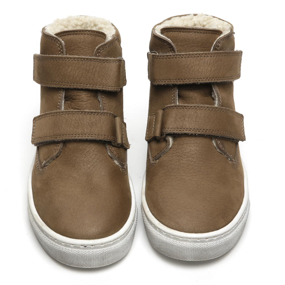 Brown hi top trainers