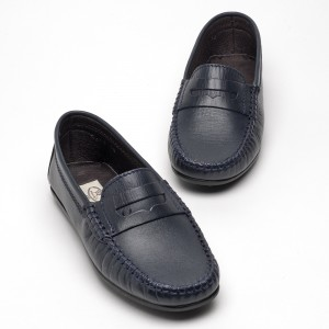 barnie leather navy