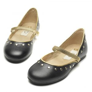 Domini circle ballerina black