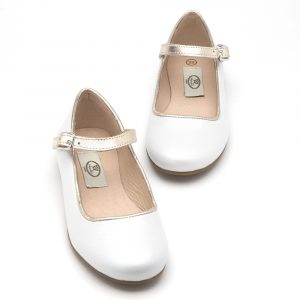 Melly girls strap - pearl white